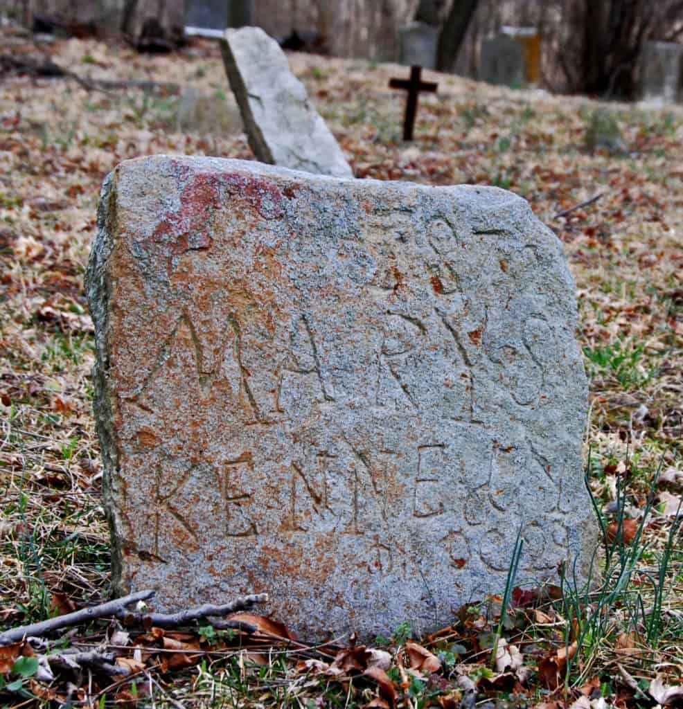 African American gravestone in the Waterford Union of Churches Cemetery in Loudoun County Virginia