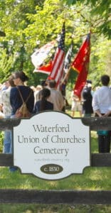 Civil War reenactment at the Waterford Union of Churches Cemetery